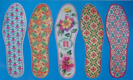 手工鞋垫 - 手工十字绣鞋垫